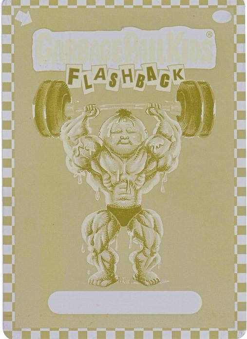 Garbage Pail Kids Flashback Printing Plate 12a - Yellow