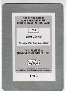 GPK Flashback 7a printing plate back with error sticker