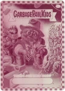 73a Garbage Pail Kids Flashback Printing Plate Magenta - Front