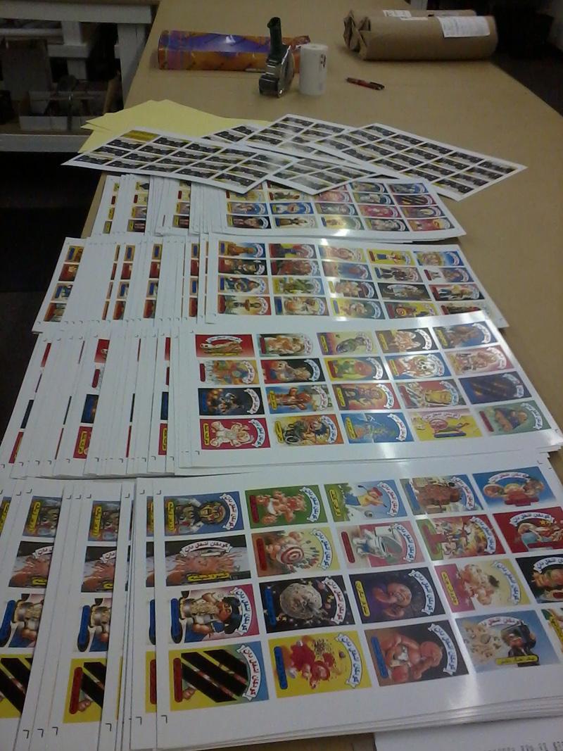 Farsi Garbage Pail Kids Cards Full Sheets
