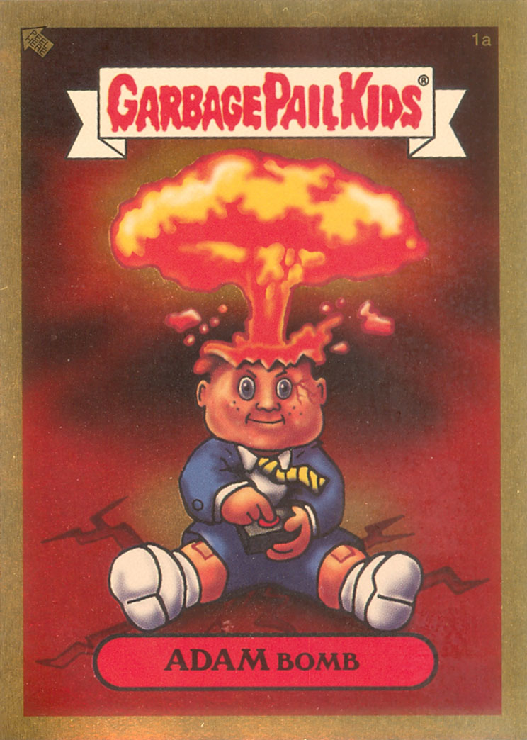 U.S. ANS1 Gold Adam Bomb Garbage Pail Kids Card
