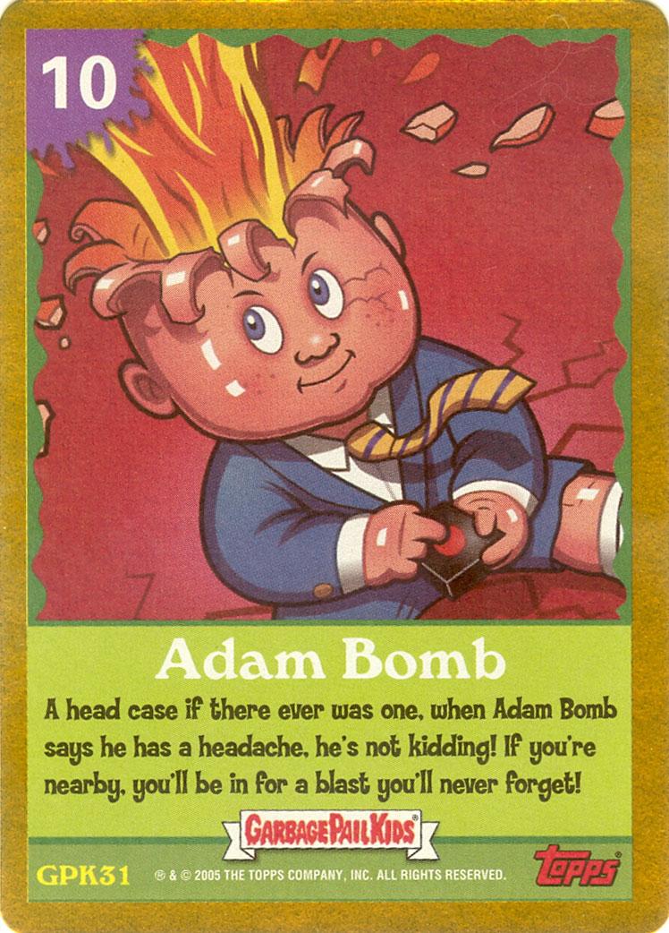 ANS4 Adam Bomb Game Card Garbage Pail Kid