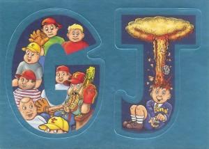 ANS5 Adam Bomb Alphabet Garbage Pail Kids Card