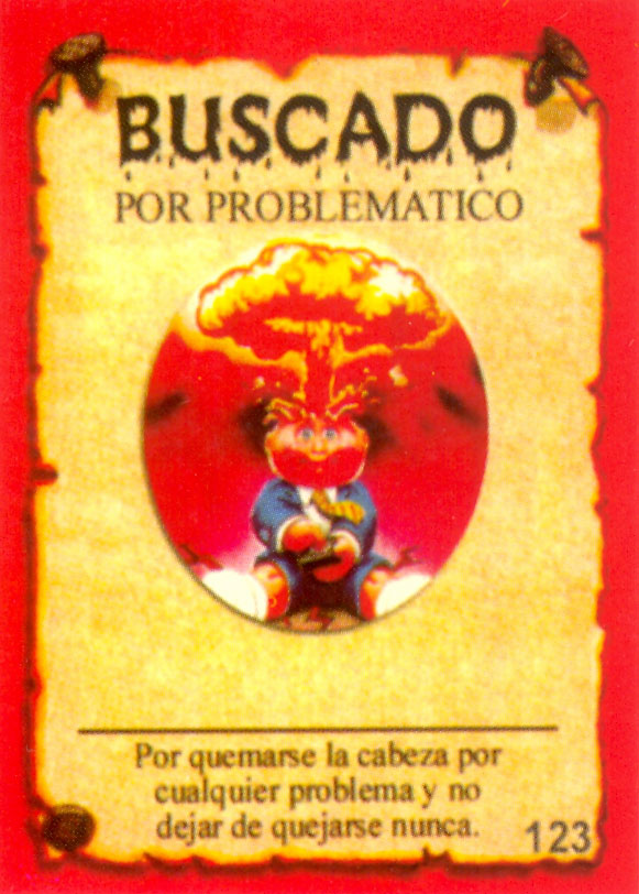 Argentina Basuritas and Monsters Adam Bomb GPK Card