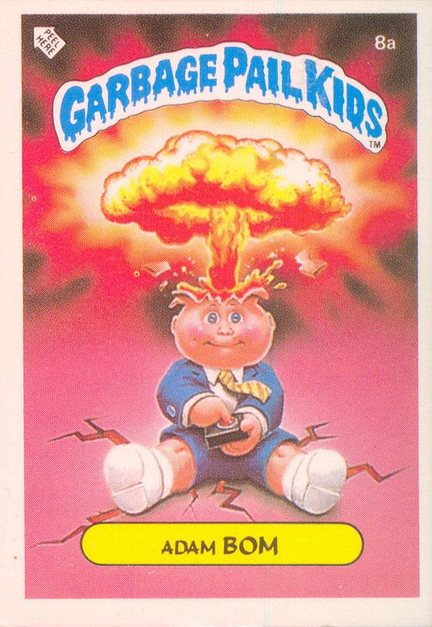 Dutch Test Series Adam Bomb Garbage Pail Kids Card