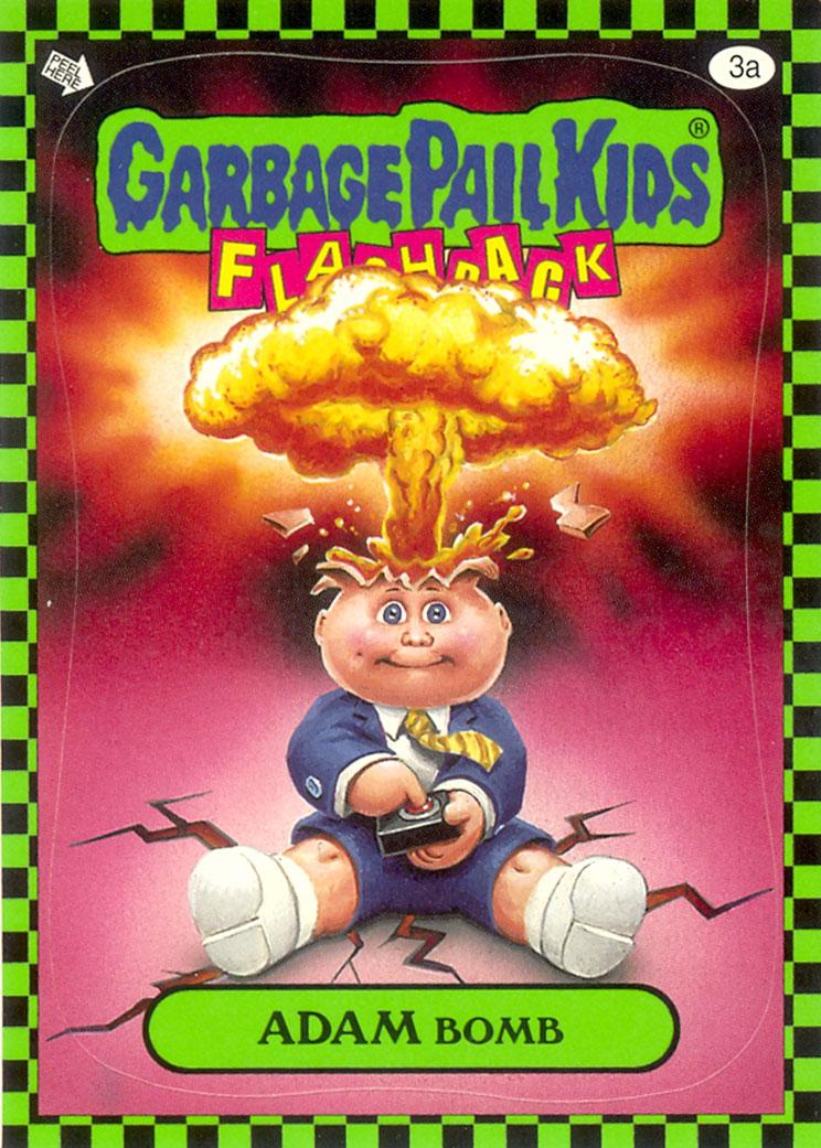 Garbage Pail Kids Flashback Adam Bomb - Green