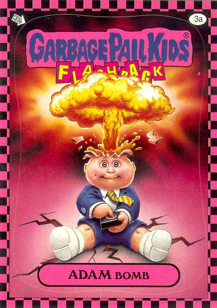 Garbage Pail Kids Flashback Adam Bomb - Pink