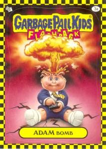 Garbage Pail Kids Flashback Adam Bomb - Yellow