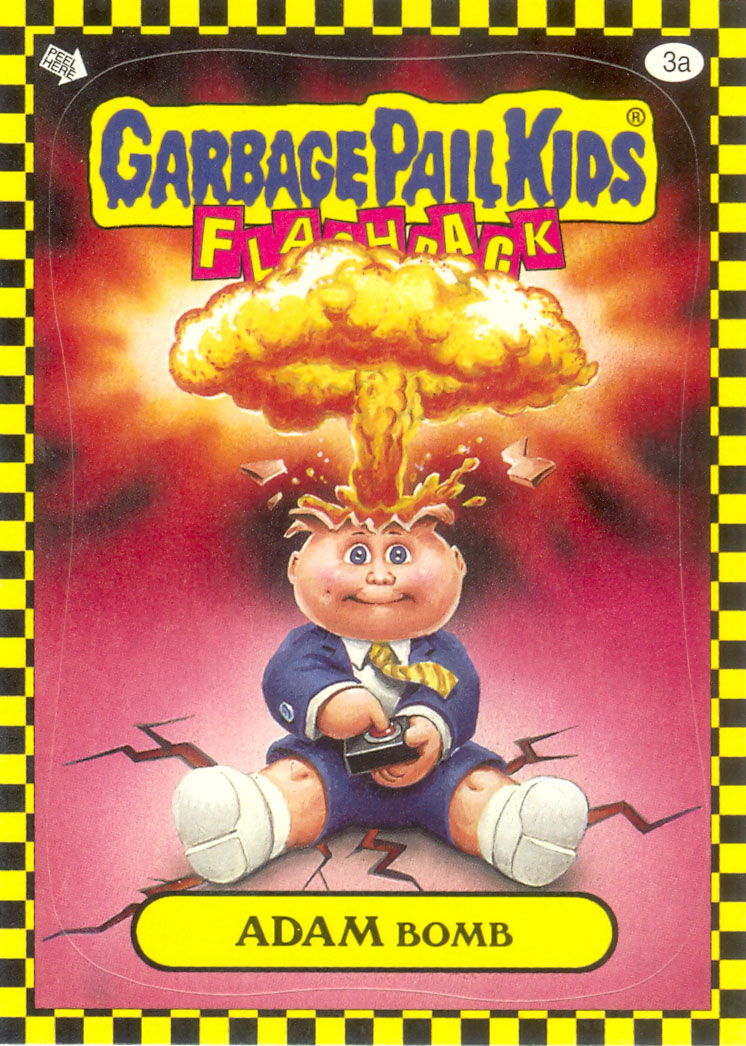 Garbage Pail Kids Flashback Adam Bomb - Yellow