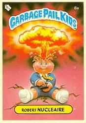 French Test Series Adam Bomb Garbage Pail Kids Card