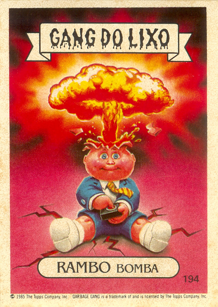 Brazil - Adam Bomb Garbage Pail Kids Card
