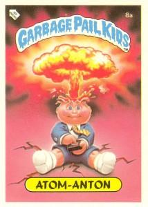 German Test Series Adam Bomb Garbage Pail Kids Card