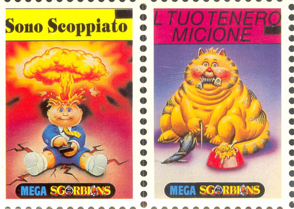Italy I Mitici Sgorbions Stamp Adam Bomb Garbage Pail Kid