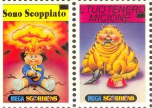 Italy I Mitici Adam Bomb Stamp Garbage Pail Kids