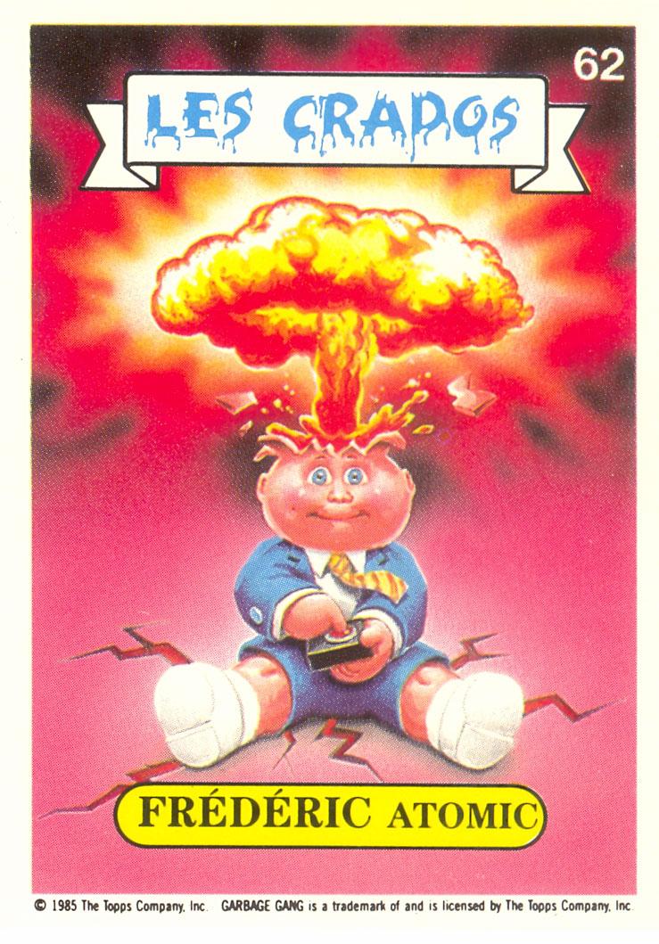French Les Crados Adam Bomb Garbage Pail Kids Card