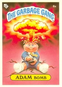 New Zealand Adam Bomb Garbage Pail Kids Card