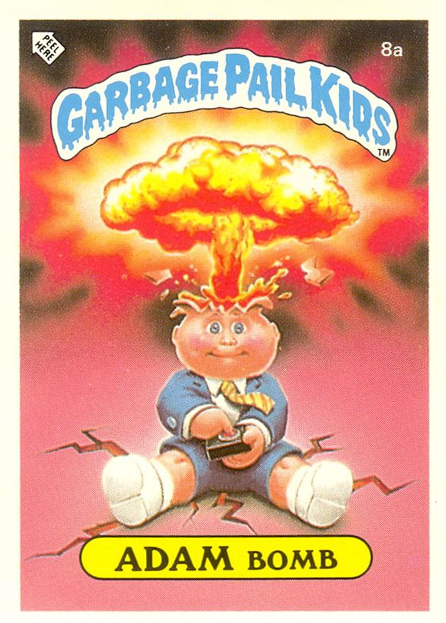 UK Adam Bomb Garbage Pail Kids Card