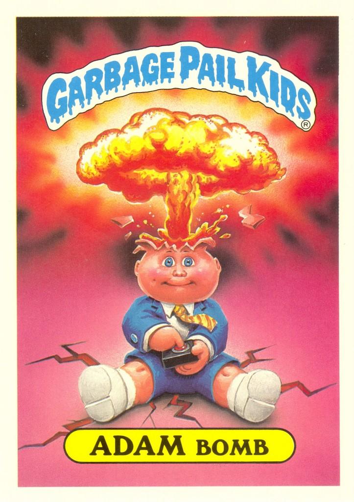 Garbage Pail Kids Adam Bomb U.S. Giant Card