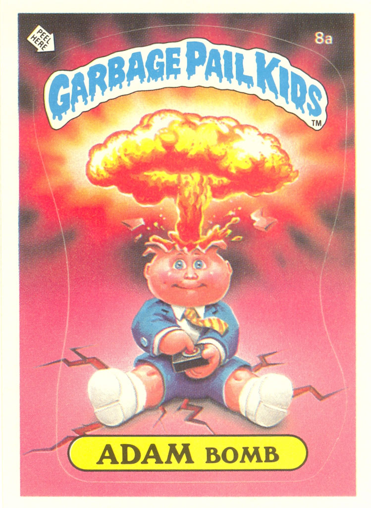 U.S. 1st Series Adam Bomb Garbage Pail Kid