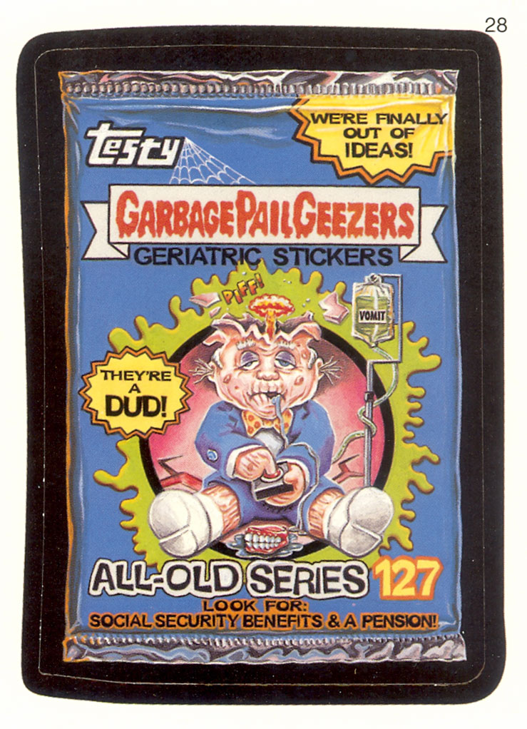 Wacky Packages Adam Bomb Card