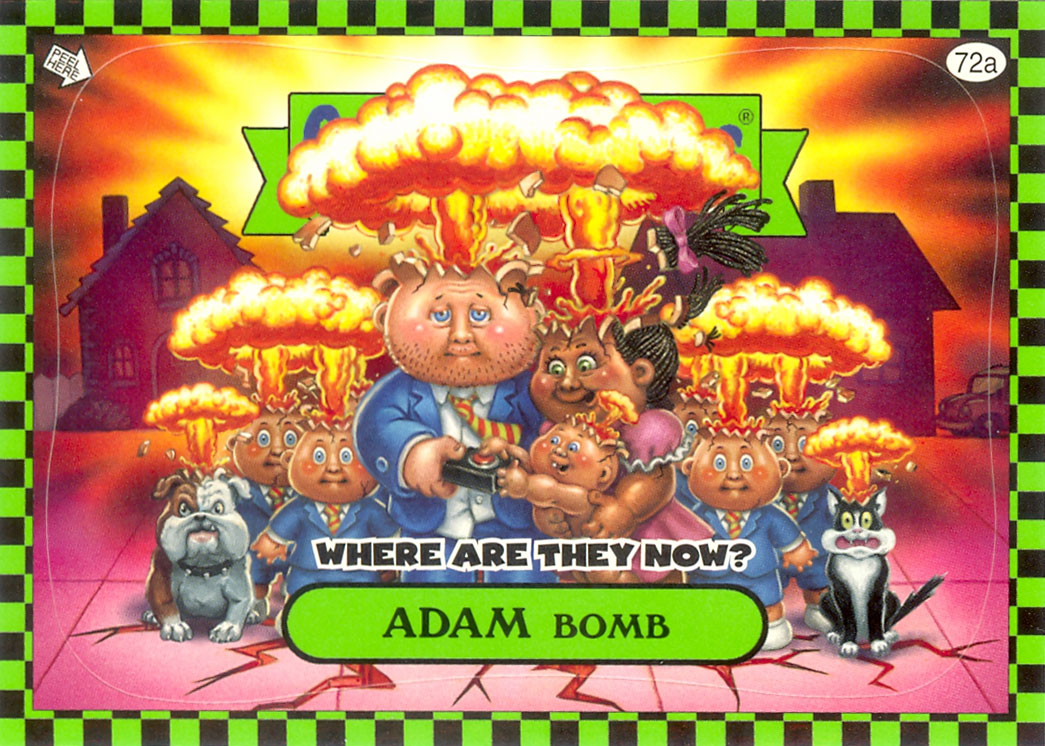 Adam Bomb Flashback WATN Green Garbage Pail Kids Card