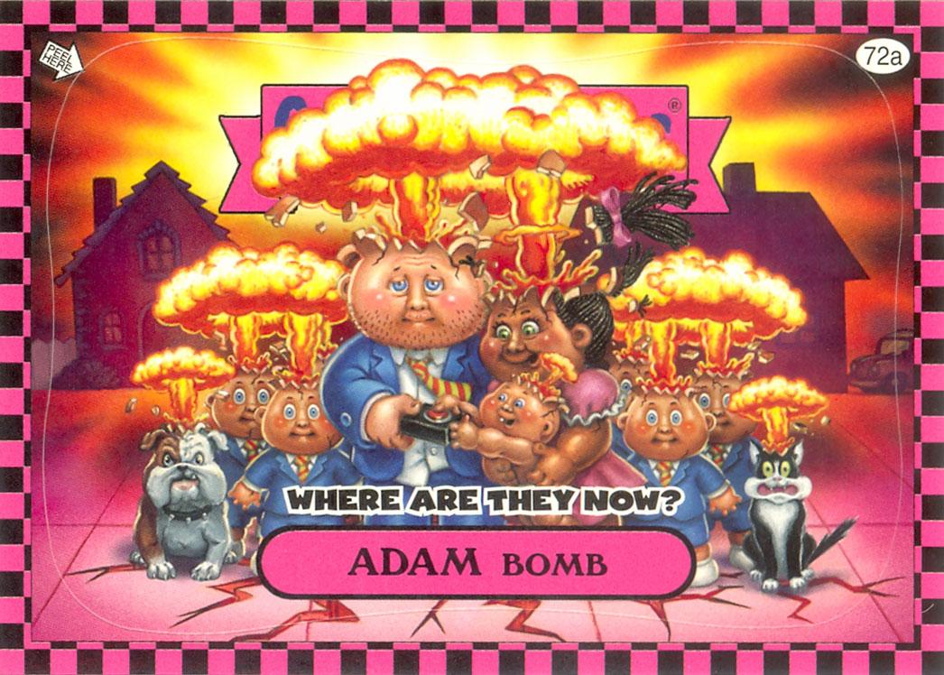 Adam Bomb Flashback WATN Pink Garbage Pail Kids Card