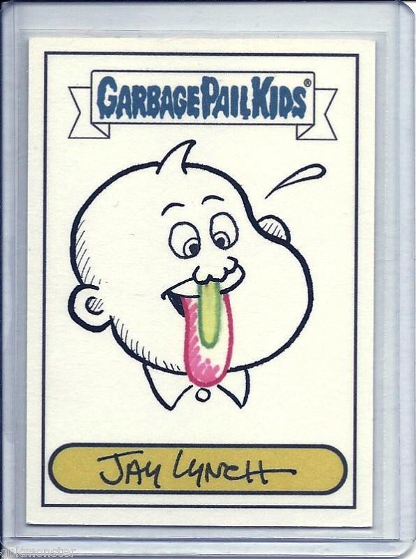 Garbage Pail Kids ANS4 Sketch Card Example
