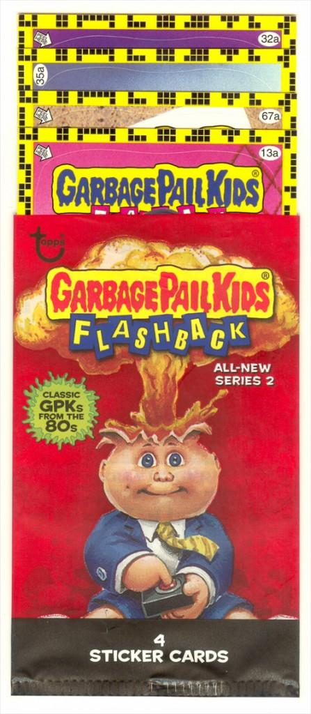 Opened Dollar Tree Garbage Pail Kids Flashback 2 Pack