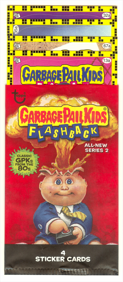 Opened Dollar Tree Garbage Pail Kids Flashback 2 Pack