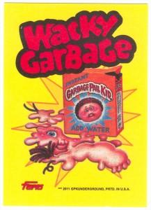 Garbage Pail Kids Wacky Garbage Cereal Box Card Back