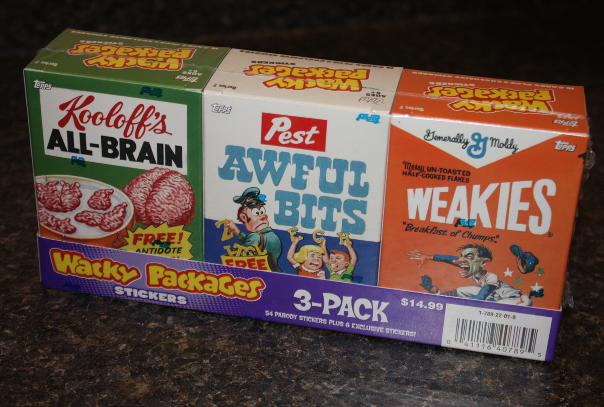 Wacky Packages ANS7 Cereal Boxes