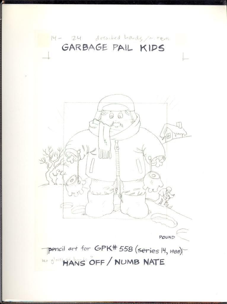 Garbage Pail Kids #558 Pencil Art