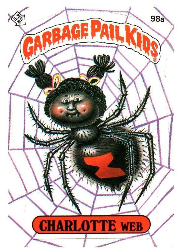 Garbage Pail Kids 3rd Series #98 Charlotte Web